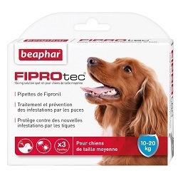 Traitement anti-puce Beaphar Fiprotec Chiens 10-20kg