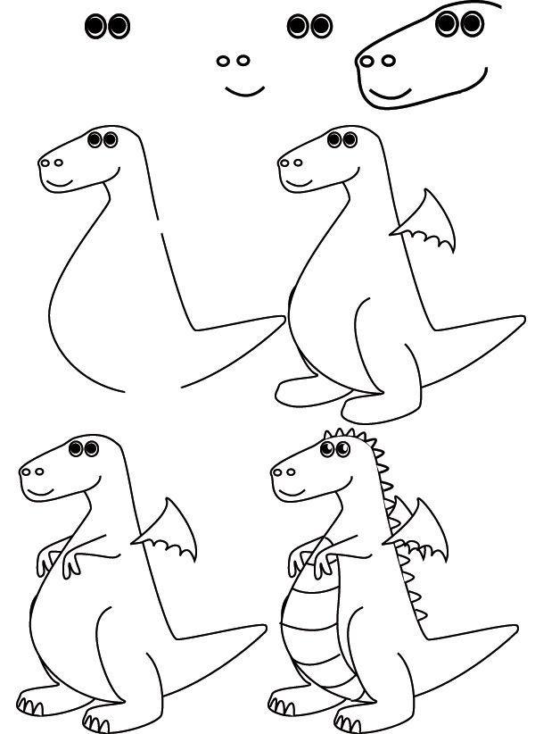 comment dessiner un dragon pour les enfants